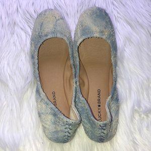 LUCKY BRAND Elysia denim ballet flats NWT